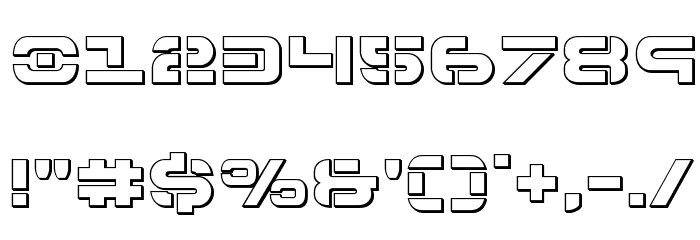 7th Service 3D Font OTHER CHARS