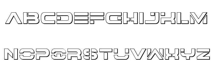 7th Service 3D Font LOWERCASE