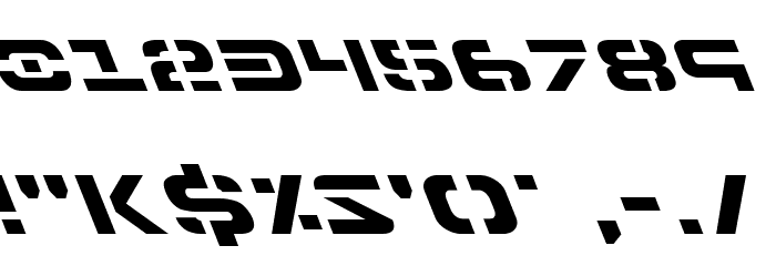 7th Service Leftalic Font OTHER CHARS