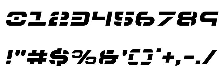 7th Service Semi-Italic Font OTHER CHARS