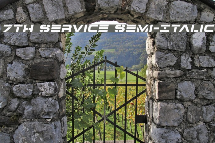 7th Service Semi-Italic Font examples