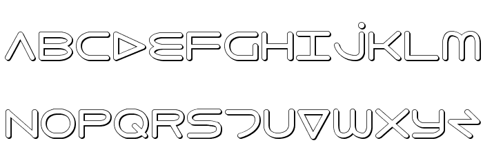 8th Element 3D Font UPPERCASE