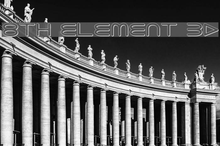 8th Element 3D Font examples