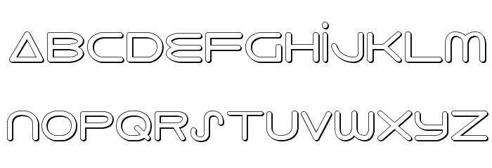 8th Element 3D Font LOWERCASE