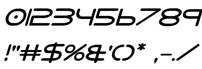 8th Element Bold Italic Font OTHER CHARS