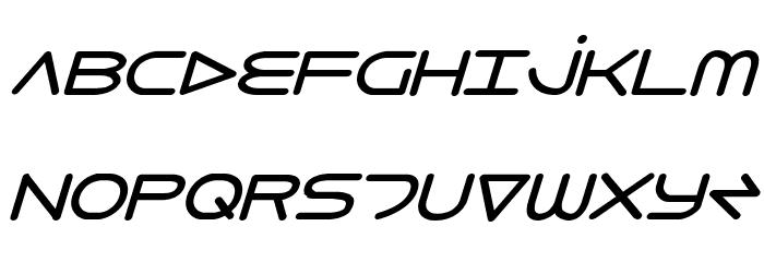 8th Element Bold Italic Font UPPERCASE