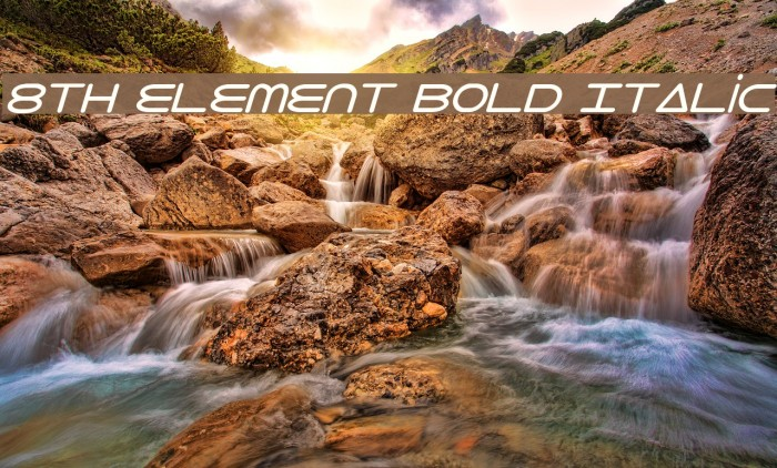 8th Element Bold Italic Font examples