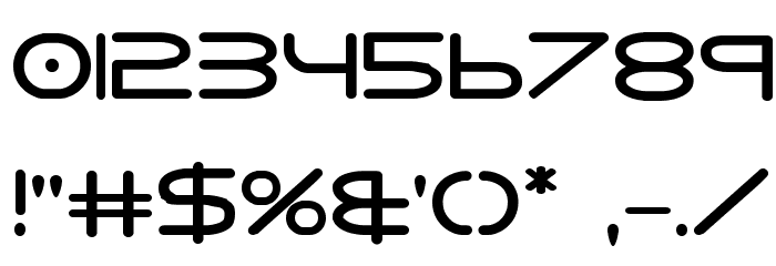 8th Element Bold Font OTHER CHARS