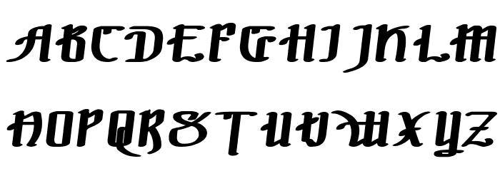 !The Black Bloc Bold Italic फ़ॉन्ट अपरकेस