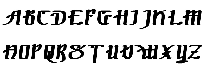 !The Black Bloc Bold Italic Font UPPERCASE