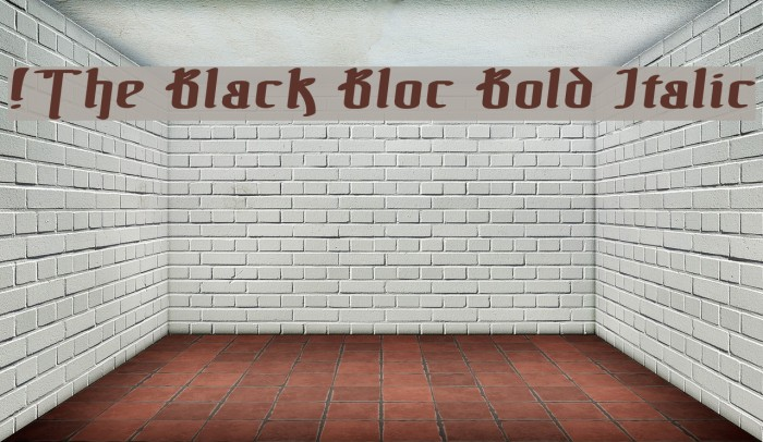 !The Black Bloc Bold Italic Font examples