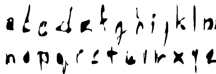 !the troubles Font Litere mici