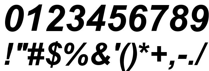 .VnArialH Bold Italic Шрифта ДРУГИЕ символов