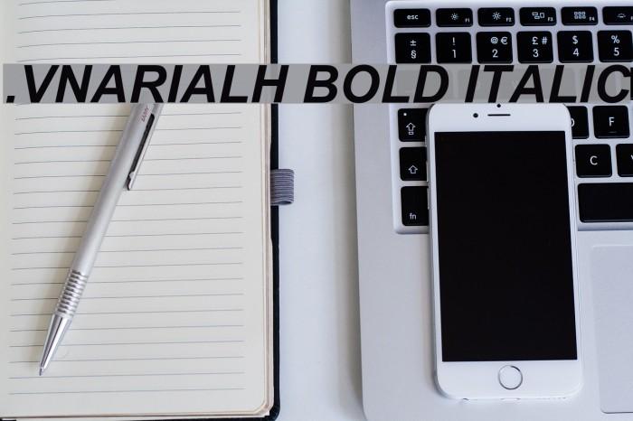 .VnArialH Bold Italic Шрифта examples
