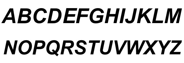 .VnArialH Bold Italic Шрифта строчной