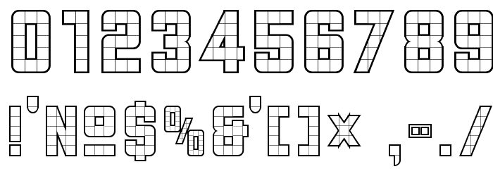 3x5  Outline Font OTHER CHARS