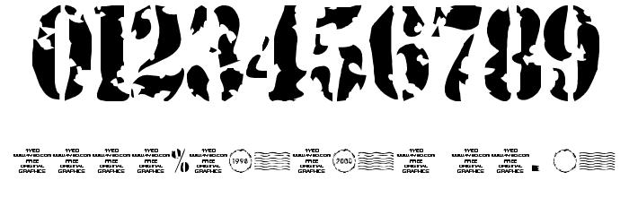 4YEOstamp Шрифта ДРУГИЕ символов