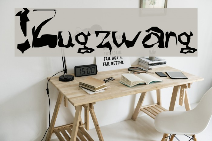 !Zugzwang フォント examples