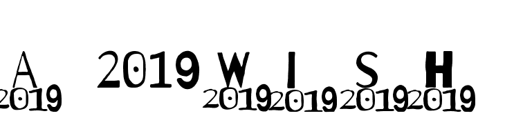 A 2019 Wish  Free Fonts Download