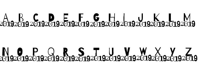A 2019 Wish Шрифта ВЕРХНИЙ