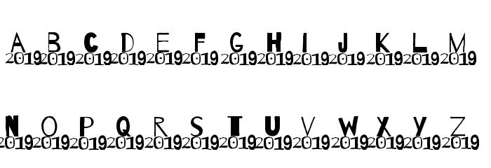 A 2019 Wish Шрифта строчной