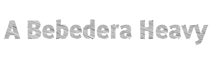 A Bebedera Heavy  Free Fonts Download
