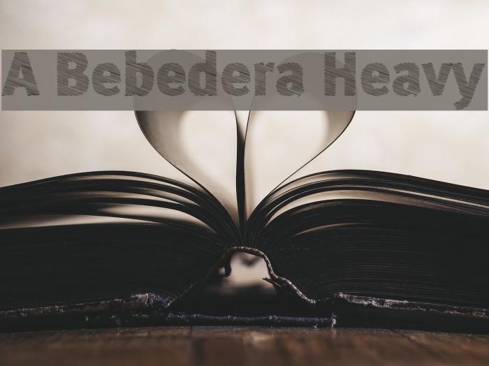 A Bebedera Heavy Font examples