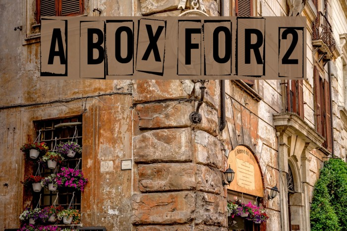 A Box For 2 Font examples