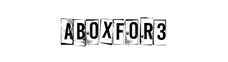 A Box For 3  Free Fonts Download