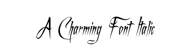 A Charming Font Italic  Free Fonts Download