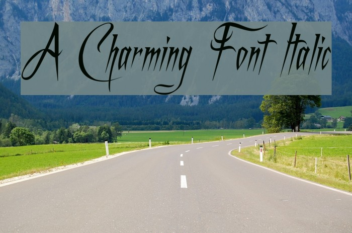 A Charming Font Italic Font examples