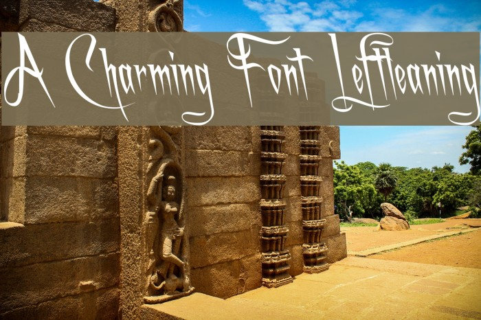 A Charming Font Leftleaning फ़ॉन्ट examples