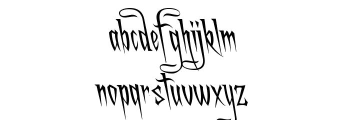 A Charming Font Leftleaning फ़ॉन्ट लोअरकेस