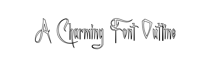 A Charming Font Outline  Free Fonts Download