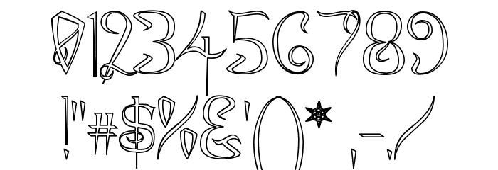 A Charming Font Outline फ़ॉन्ट अन्य घर का काम