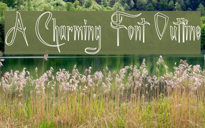 A Charming Font Outline फ़ॉन्ट examples
