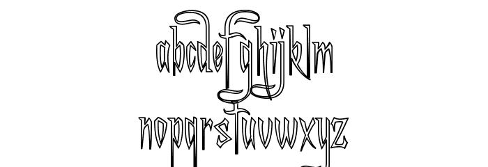 A Charming Font Outline फ़ॉन्ट लोअरकेस