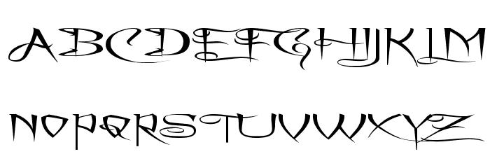 A Charming Font Superexpanded फ़ॉन्ट अपरकेस