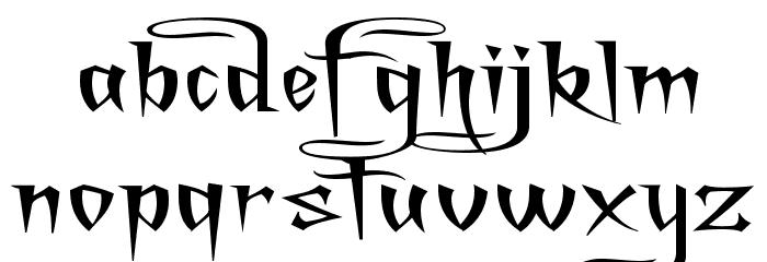 A Charming Font Superexpanded फ़ॉन्ट लोअरकेस