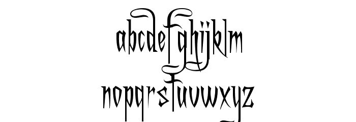 A Charming Font Font LOWERCASE