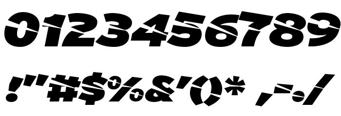 A-Cuchillada Шрифта ДРУГИЕ символов