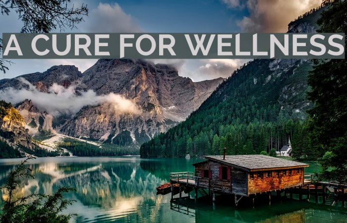 A Cure For Wellness Font examples