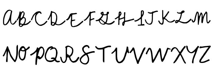 A Cursive Regular फ़ॉन्ट अपरकेस
