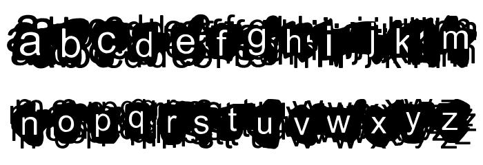 A Damn Mess Font LOWERCASE