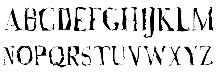 A Font with Serifs. Disordered Шрифта ВЕРХНИЙ