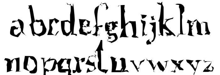 A Font with Serifs. Disordered Fonte MINÚSCULAS