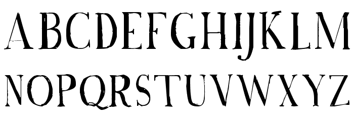 A Font with Serifs フォント 大文字