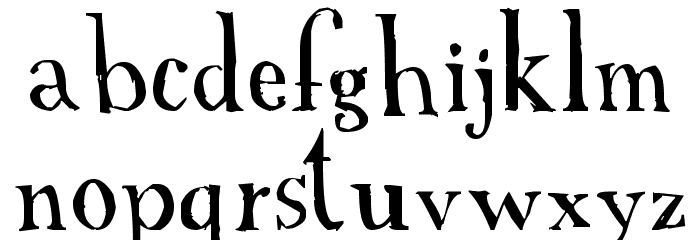 A Font with Serifs フォント 小文字