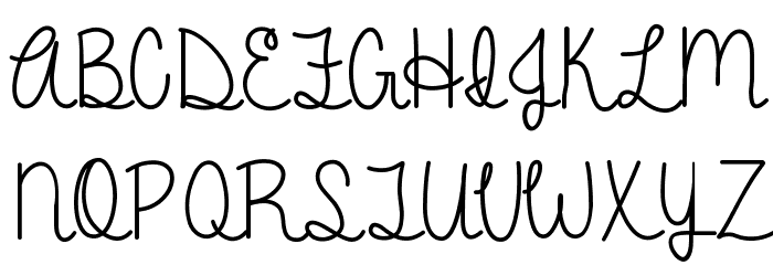 A Gentle Touch Font UPPERCASE