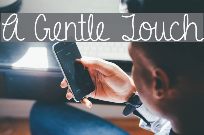 A Gentle Touch フォント examples